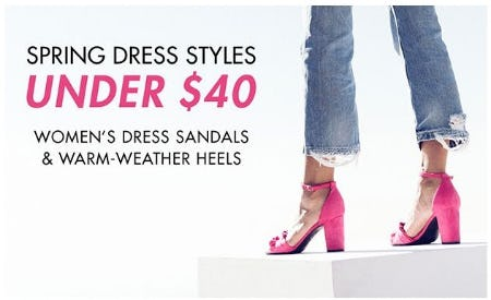 Women's Dress Sandals & Warm-Weather Heels Under $40 from DSW Shoes