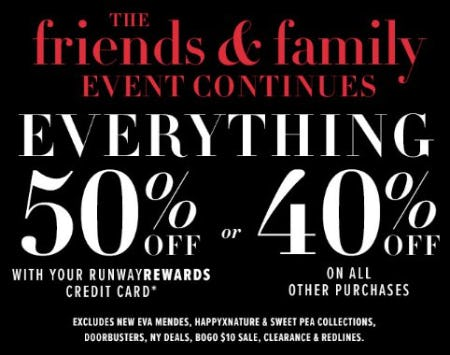 The Friends & Family Event from New York & Company