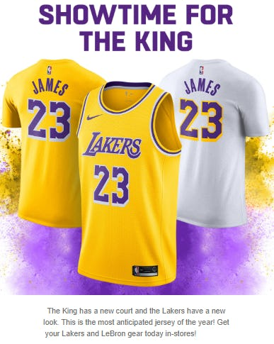 timeless design 88fd7 1d7fa Triangle Town Center | The LeBron James Jersey