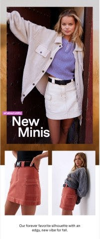 New for Fall: Utility Mini Skirts