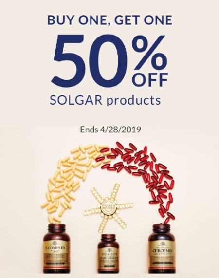 BOGO 50% Off Solgar Products from The Vitamin Shoppe