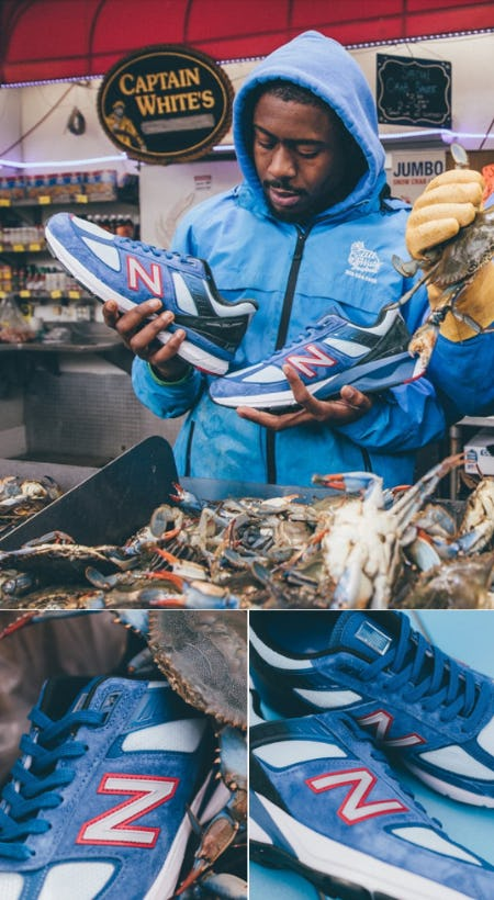 New Balance 990v5 'Blue Crab' from DTLR