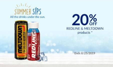 20% Off Redline & Meltdown Products