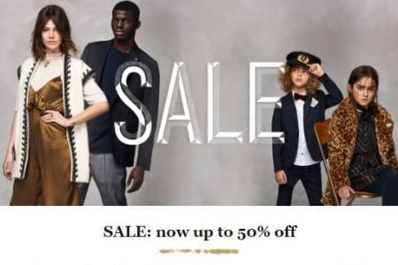Sale now up to 50% Off