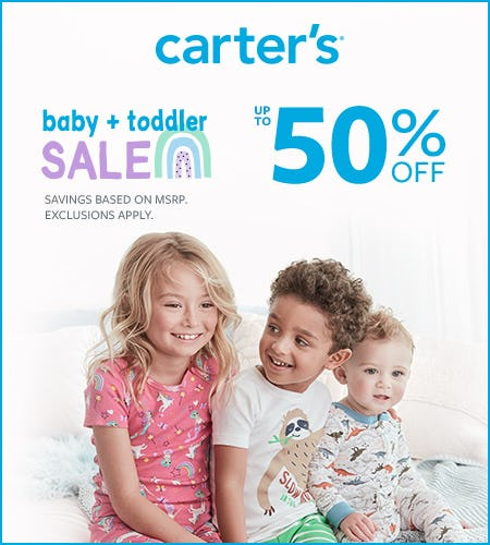 Baby + Toddler Sale: Up to 50% Off