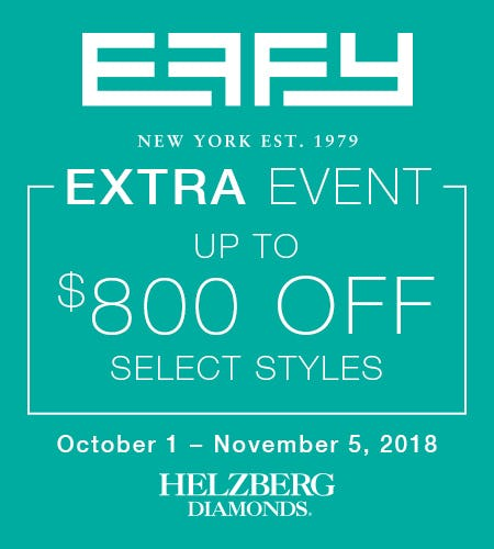 Effy Extra Event from Helzberg Diamonds