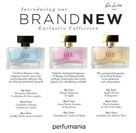 Introducing Gia Lucca Exclusively at Perfumania