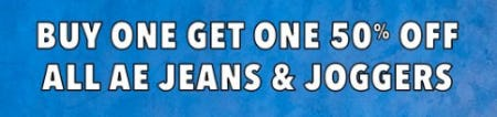 Buy One, Get One 50% Off All AE Jeans & Joggers