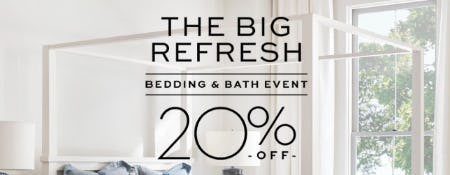20% Off Bedding & Bath