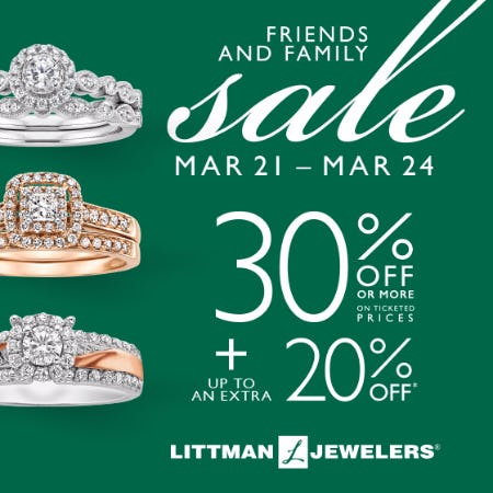 Friends and Family Sale from Littman Jewelers