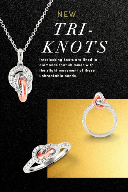 New Tri-Knots Diamond Jewelry