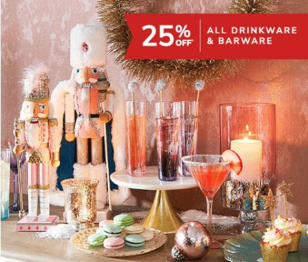 25% Off All Drinkware & Barware from Pier 1 Imports