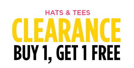 BOGO Free Hats & Tees from Spencer's Gifts
