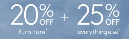 20% Off Furniture + 25% Off Everything Else from Pottery Barn Kids