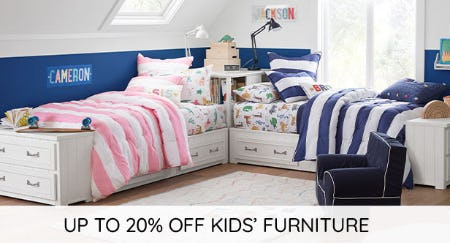 Up to 20% Off Kids' Furniture from Pottery Barn Kids