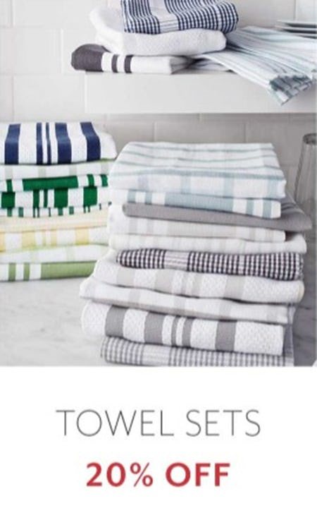 Towel Sets 20% Off from Sur La Table