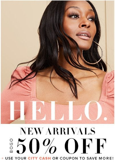New Arrivals BOGO 50% Off