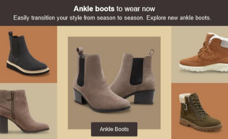 Ankle Boots to Wear Now