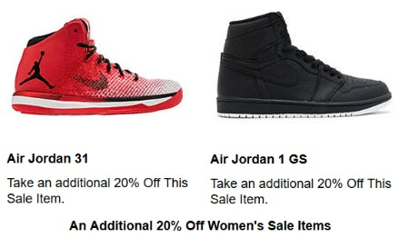 Additional 20% Off Women's Sale Items from Shoe Palace
