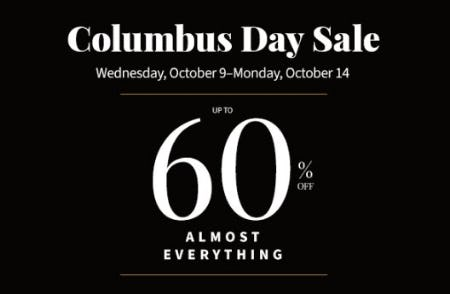 Columbus Day Sale from Jos. A. Bank