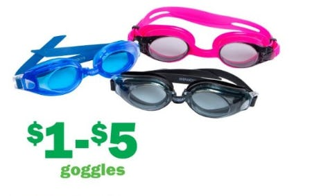 $1–$5 Goggles from Five Below