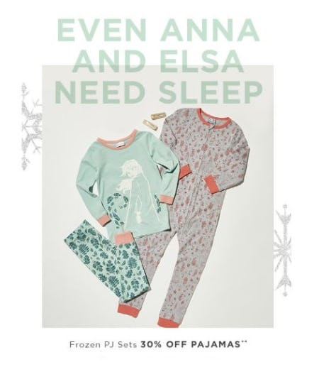 30% Off Frozen PJ Sets from Cotton On Kids