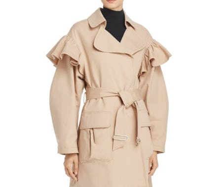 Rebecca Taylor Ruffle Trench Coat from Bloomingdale's