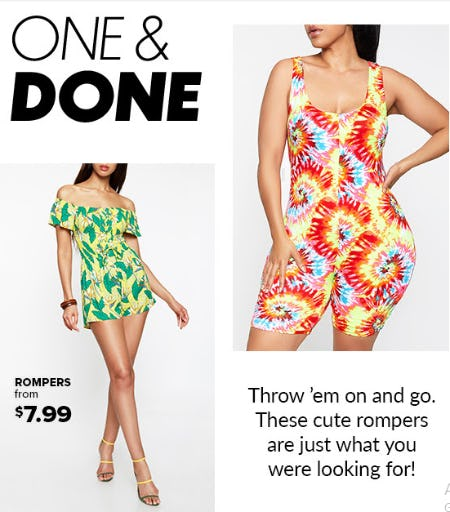 Rompers From $7.99 from Rainbow
