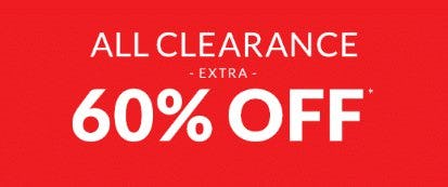 Extra 60% Off All Clearance