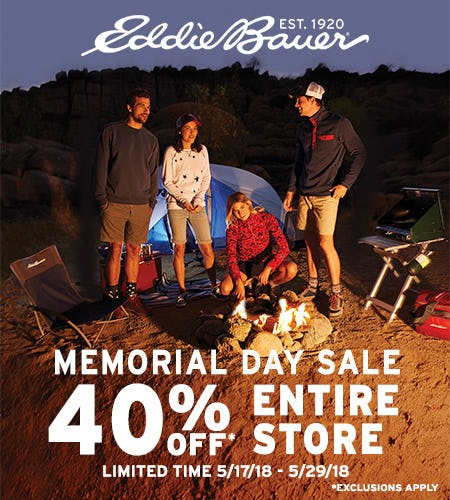 Memorial Day Sale! from Eddie Bauer