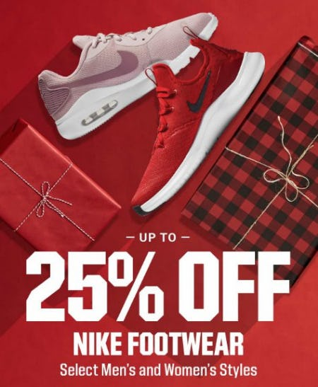 Up to 25% Off Nike Footwear from Dick's Sporting Goods