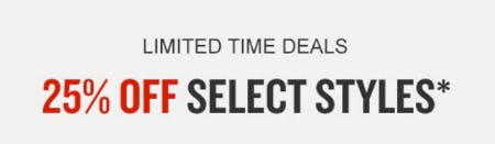 25% Off Select Styles from Finish Line