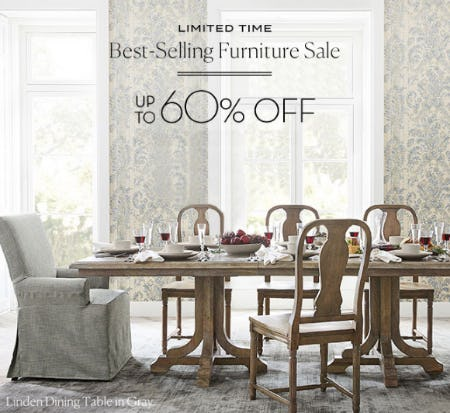 Up To 60% Off Best Selling Furniture Sale