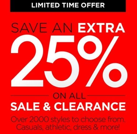 Save an Extra 25% on All Sale & Clearance from THE WALKING COMPANY
