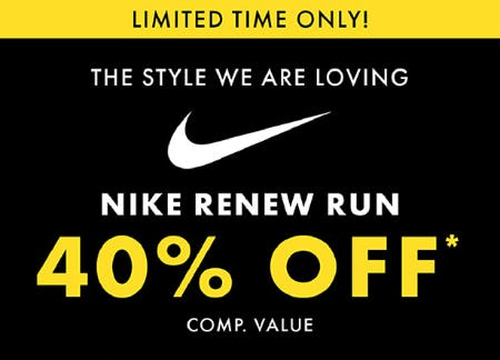 Nike Renew Run 40% Off Comp. Value from DSW Shoes