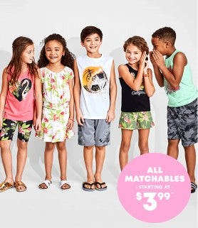 All Matchables Starting at $3.99 from The Children's Place