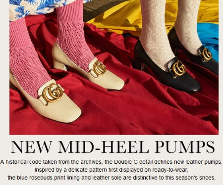 New Mid-Heel Pumps from Gucci