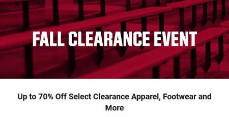 Up to 70% Off Select Clearance Apparel, Footwear and More from Dick's Sporting Goods