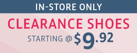 Clearance Shoes Starting at $9.92 from Stein Mart