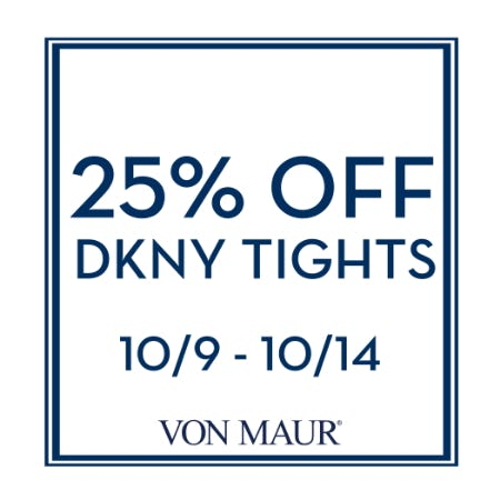 25% Off DKNY Tights from Von Maur