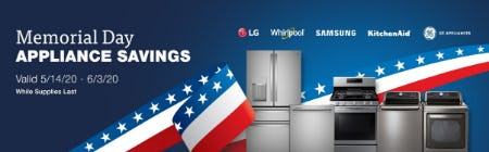 Memorial Day Appliance Savings