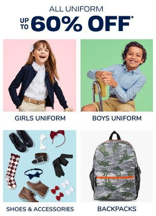 All Uniform up to 60% Off from The Children's Place