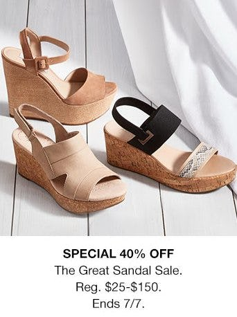 The Great Sandal Sale 40% Off from macy's
