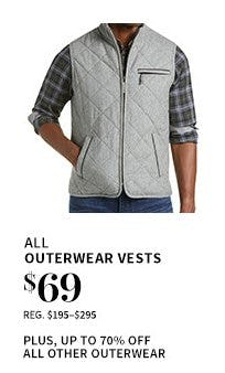 All Outerwear Vests $69 from Jos. A. Bank