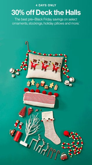 30% Off Deck The Halls from Crate & Barrel