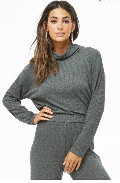 Ribbed Turtleneck Top from Forever 21
