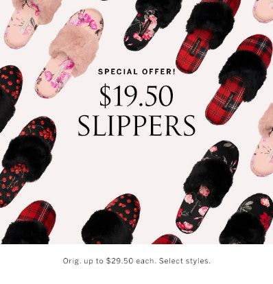 $19.50 Slippers from Victoria's Secret
