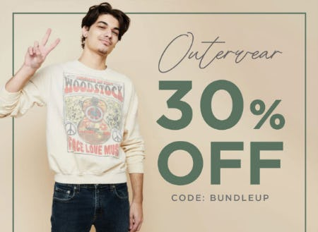 30% Off Outerwear from Earthbound Trading Company