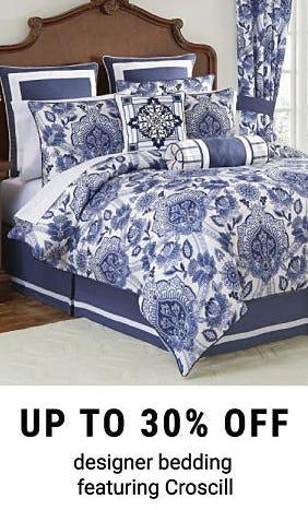 Up to 30% Off Designer Bedding