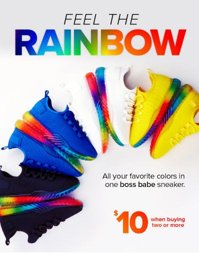 $10 Sneakers When Buying Twor or More from Rainbow